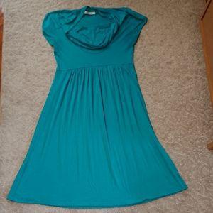 Blue Color Me Red Easy Knit Dress